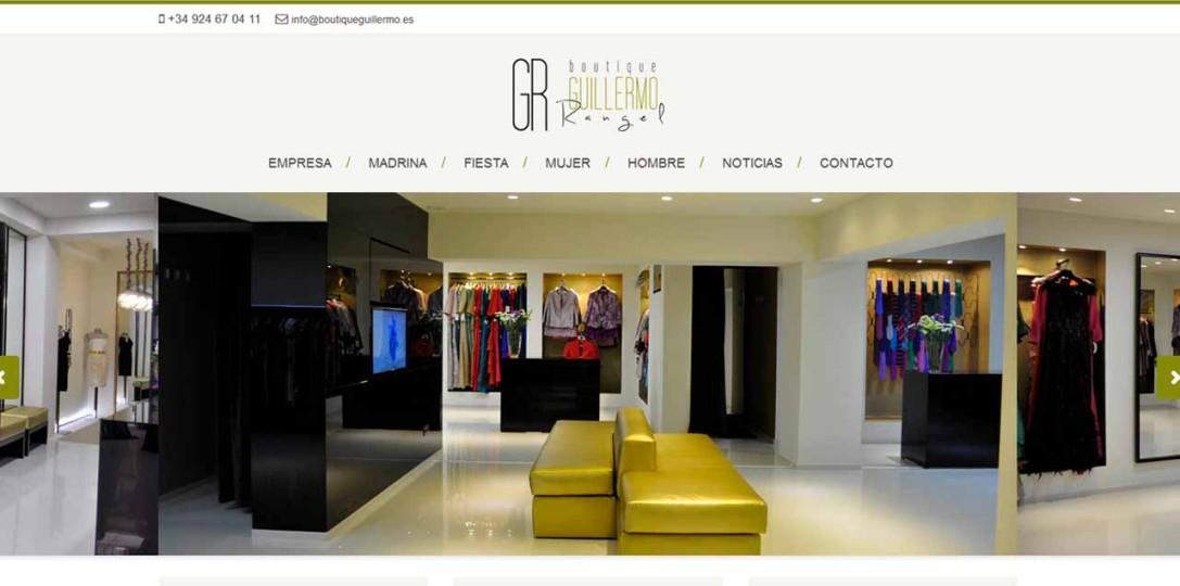 Página Web para Boutique Guillermo Rangel por MomentodeCrear