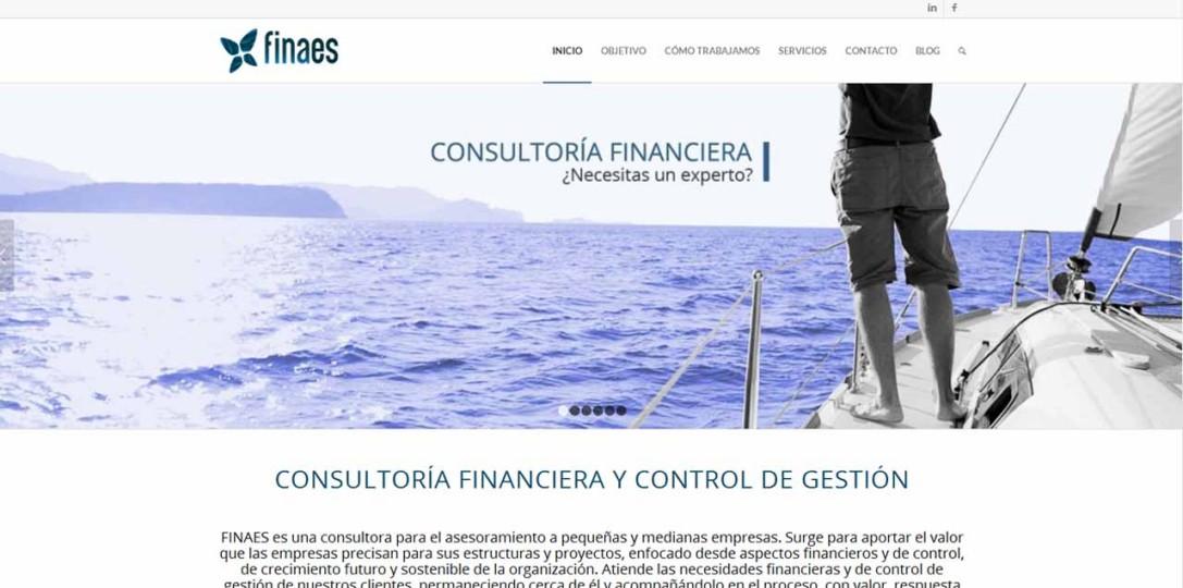 Página web y corporativa para Finaes por MomentodeCrear